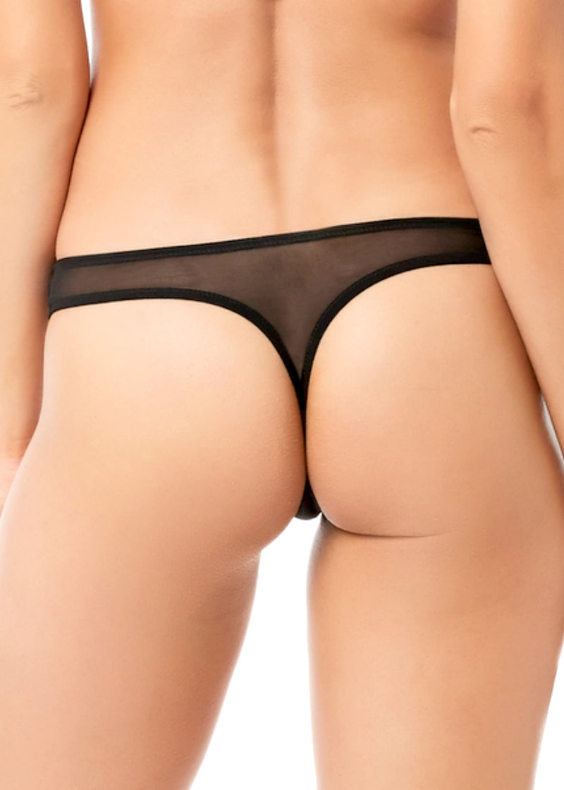 Bluebella Addison (Black) Thong - Avec Amour Lingerie Boutique