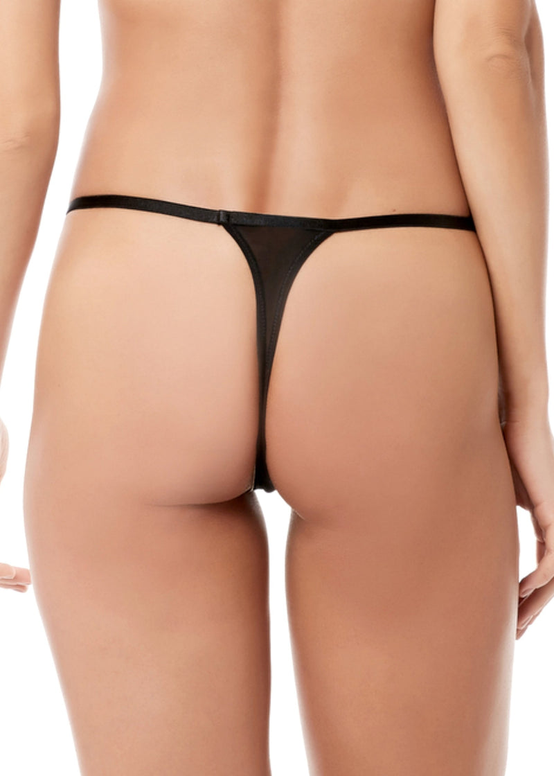 Eliana (Black) Thong-Bottoms-Bluebella-AvecAmourLingerie