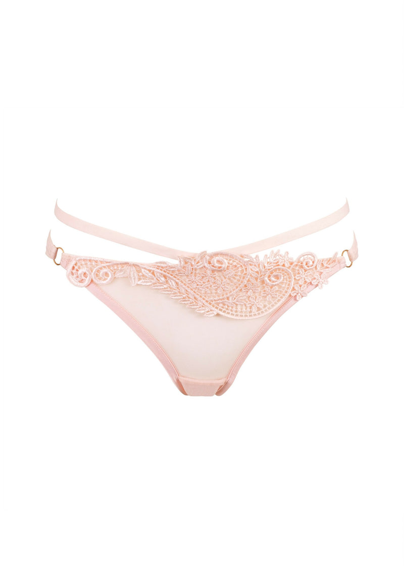 Julienne (Pale Pink) Brief-Bottoms-Bluebella-AvecAmourLingerie