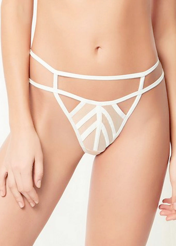 London (White/Rose Dust) Thong-Bottoms-Bluebella-AvecAmourLingerie