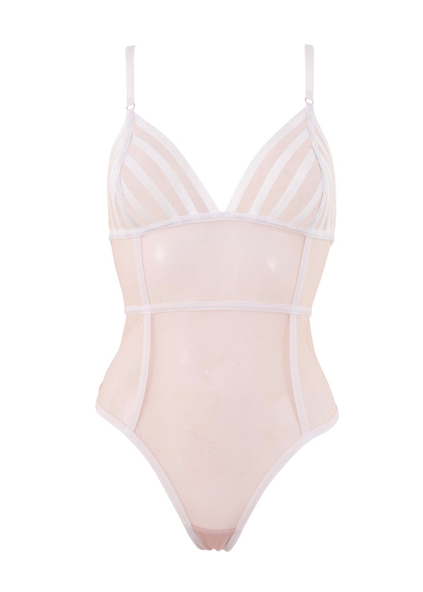 London (White/Rose Dust) Body-Bodywear-Bluebella-AvecAmourLingerie