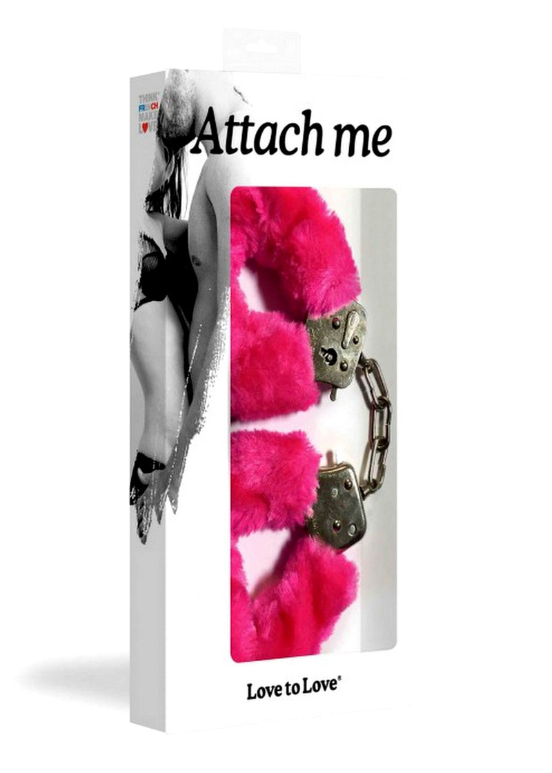 Attach Me Handcuffs (Pink)-Accessories-Love to Love-AvecAmourLingerie