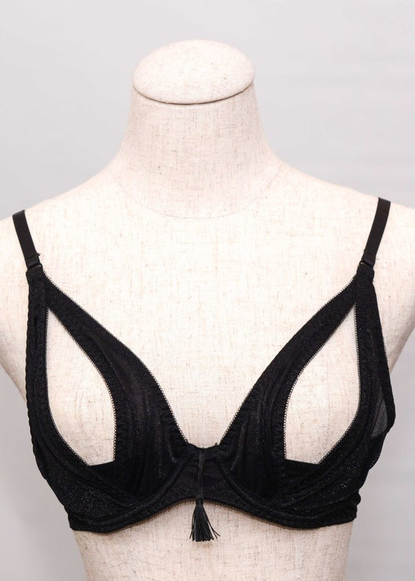 Flore Soutien Peek Bra (Black)-Bras-Maison Close-AvecAmourLingerie