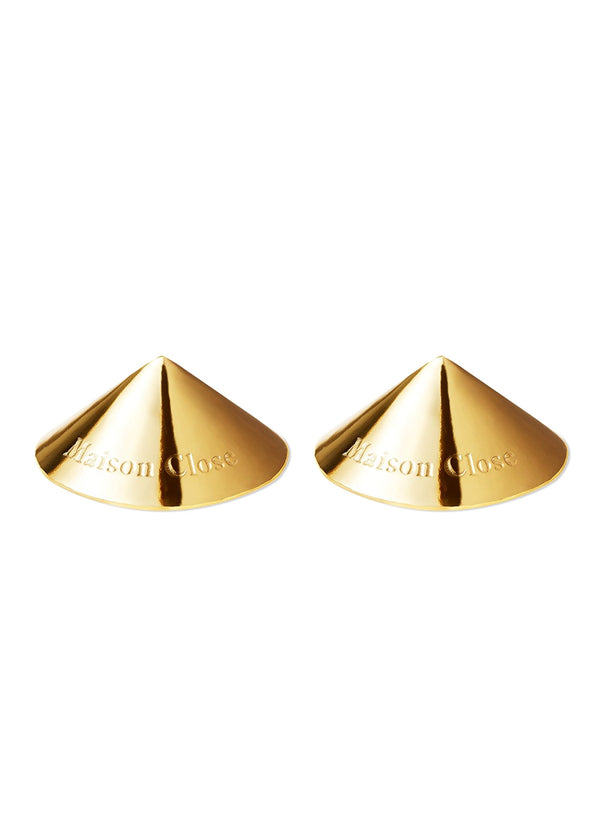 Maison Close Les Fetiches Gold Nipple Pasties - Avec Amour Lingerie Boutique