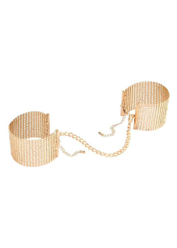 Desir Metallique Mesh Handcuffs-Accessories-Bijoux Indiscrets-AvecAmourLingerie
