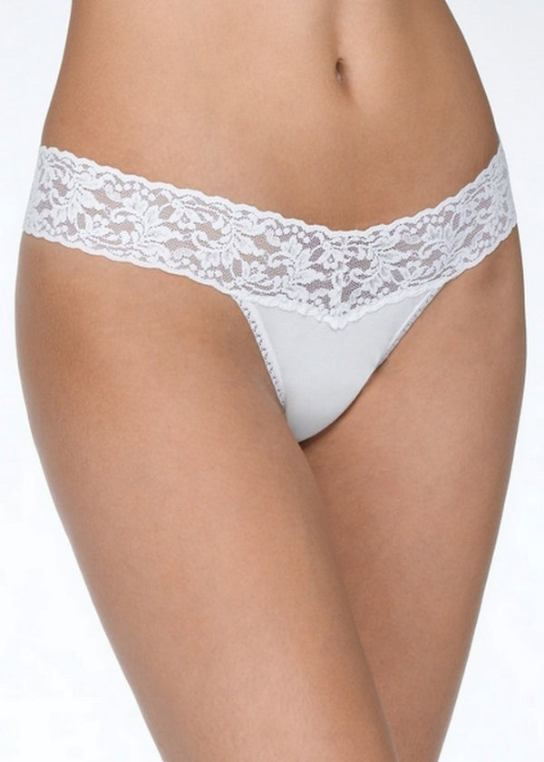 Cotton Low Rise Thong-Bottoms-Hanky Panky-AvecAmourLingerie