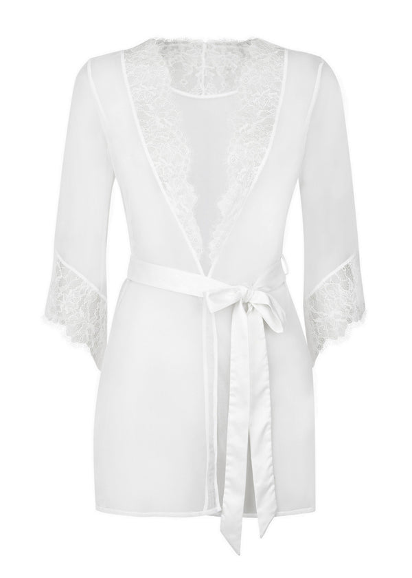 Idalia (White) Short Gown-Bodywear-L'Agent by Agent Provocateur-AvecAmourLingerie