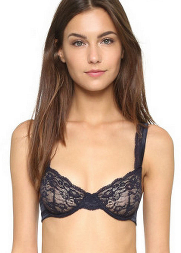 Clara Whispering Non-Padded Underwire Bra (Dark Ink)-Bras-Stella McCartney Lingerie-AvecAmourLingerie