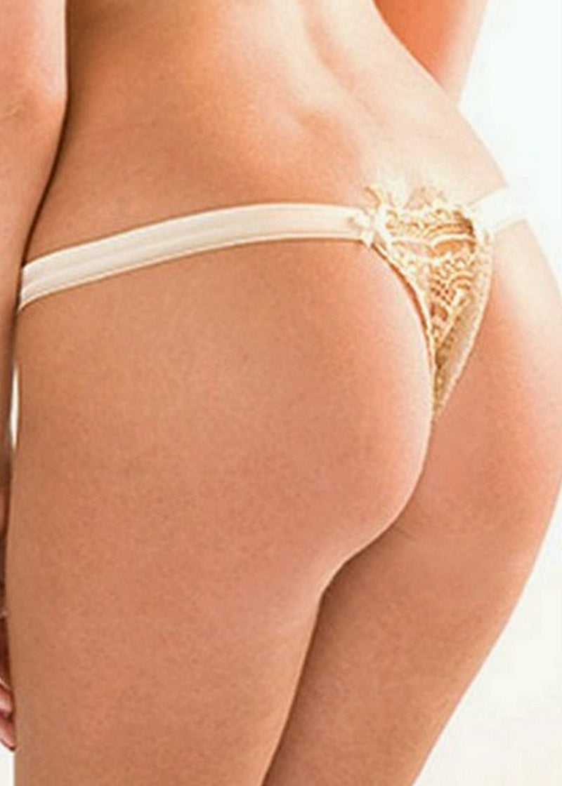 Bisou Brulee Thong-Bottoms-Mimi Holliday-AvecAmourLingerie