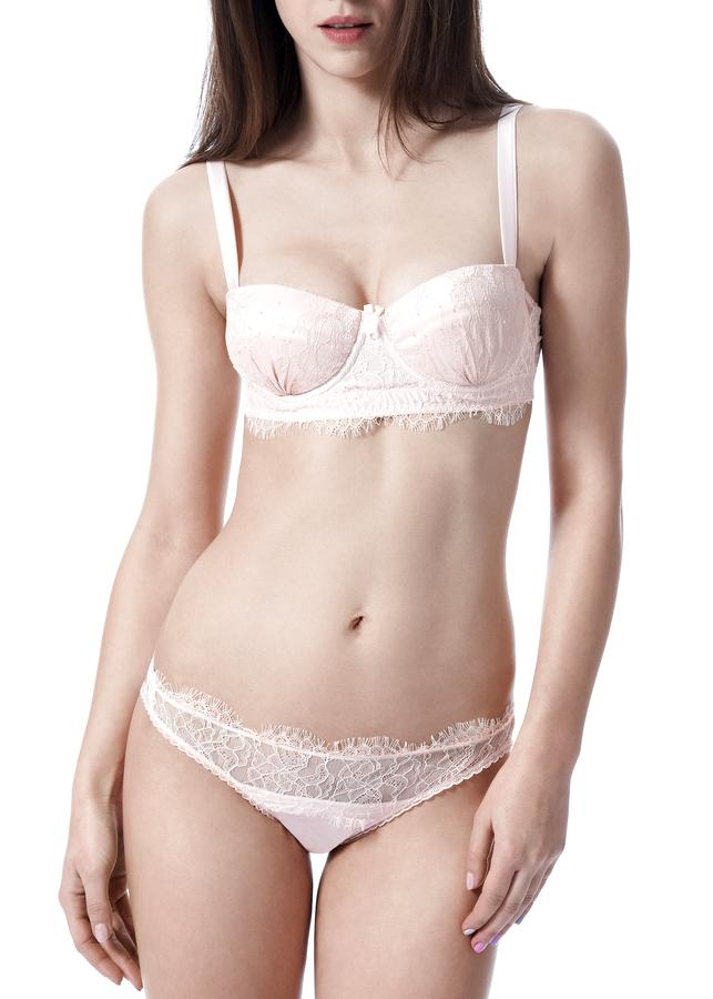 Oyster Whippy Balcony Bra-Bras-Mimi Holliday-AvecAmourLingerie