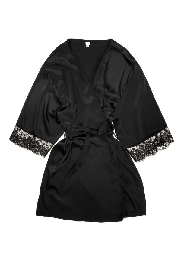 Bella Donna Mini Dressing Gown-Bodywear-Mimi Holliday-AvecAmourLingerie