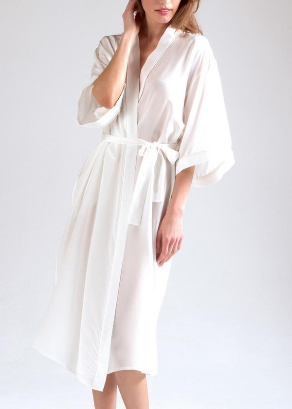 Snow Drop Long Dressing Gown-Bodywear-Mimi Holliday-AvecAmourLingerie