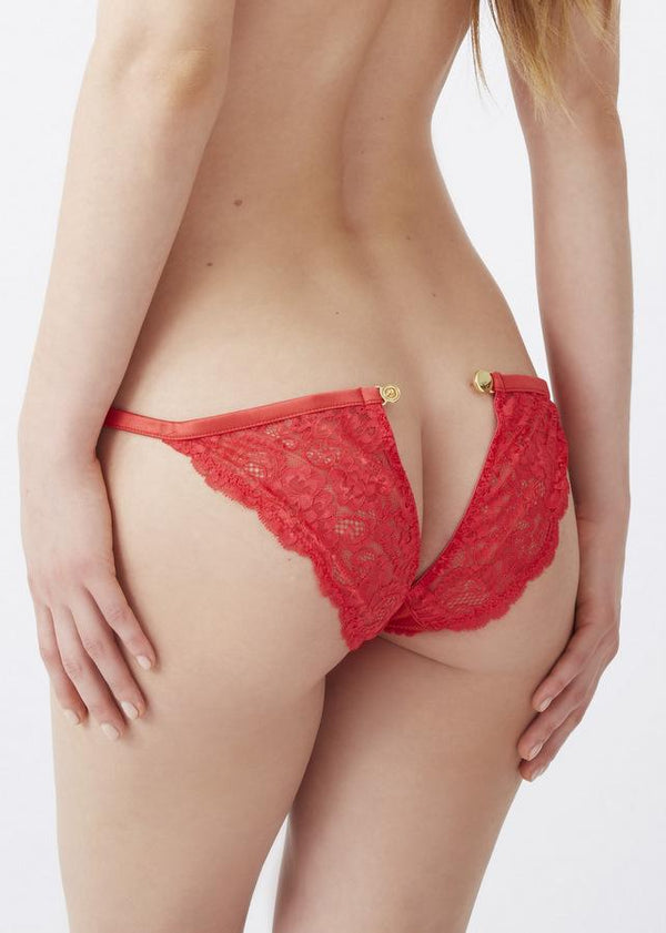 Mimi Holliday Amaryllis Hipster Peep Popper Knicker - Avec Amour Lingerie Boutique