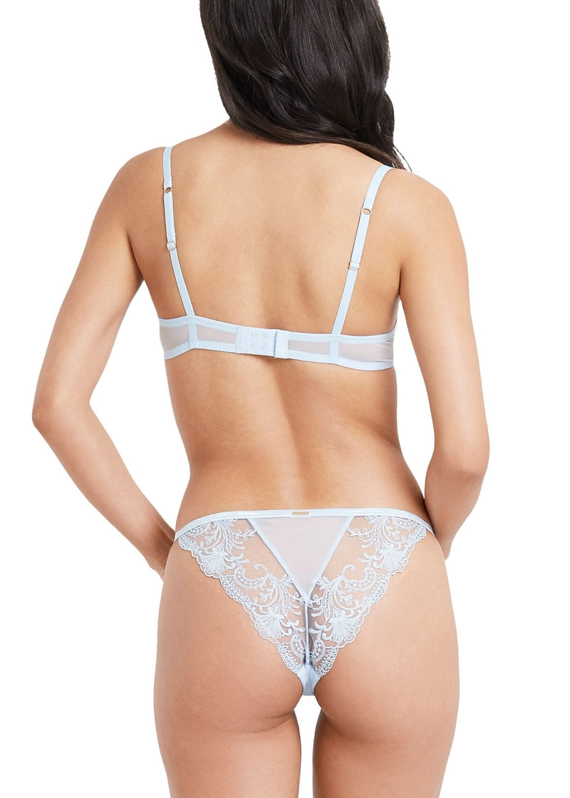 Bluebella Marseille Powder Blue Lace Brief | Sexy Lingerie