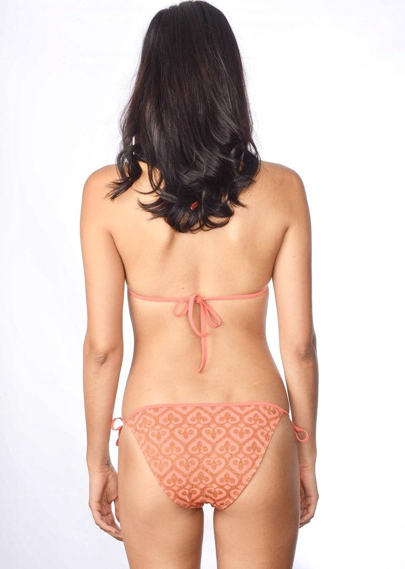 Love Triangle Top & String Bottom (Orange)-Swimwear-Cia Maritima-AvecAmourLingerie