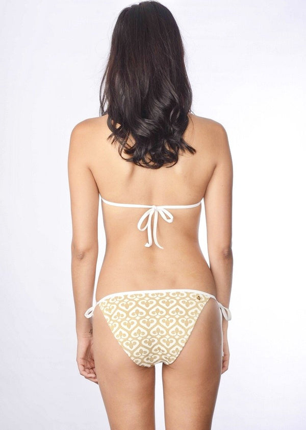 Love Triangle Top & String Bottom (White)-Swimwear-Cia Maritima-AvecAmourLingerie