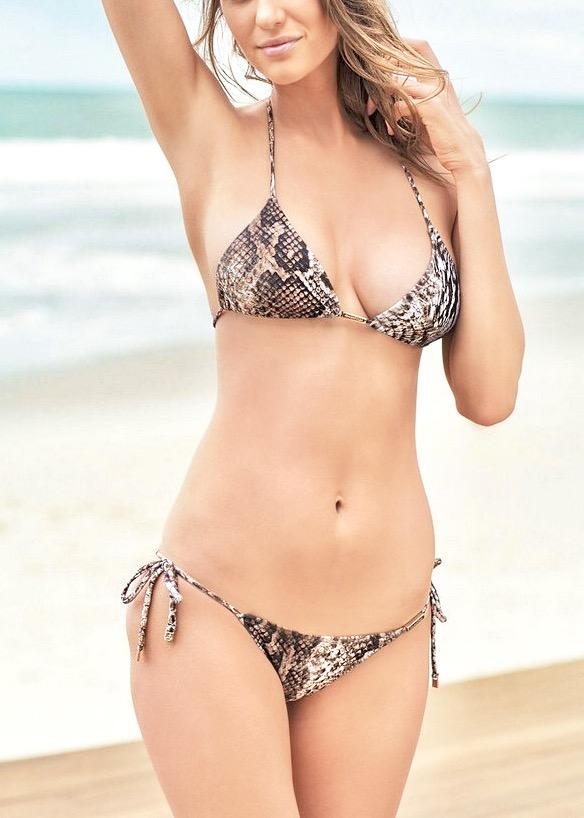 Python Triangle Top & String Bottom-Swimwear-Cia Maritima-AvecAmourLingerie