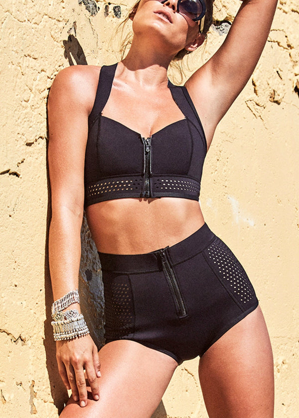 La Kasbah High Waisted Bikini Pant and Top Swimwear-Swimwear-Duskii-AvecAmourLingerie