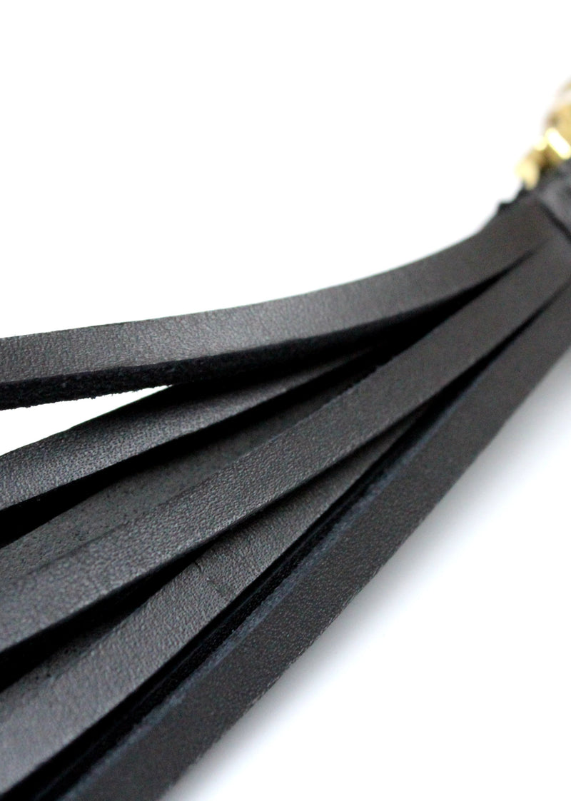 Omega Tassel Flogger (Black)-Accessories-ELF Zhou-AvecAmourLingerie