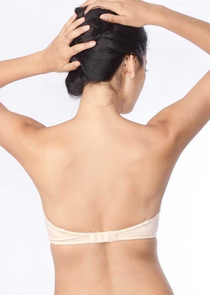 Refined 6 Way Low Cut Strapless Bra (Fair Skin Nude)-Bras-Fine Lines-AvecAmourLingerie