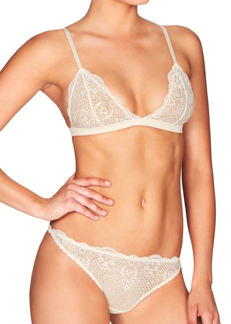 Tempting Lily Thong Brief (Gardenia)-Bottoms-Heidi Klum Intimates-AvecAmourLingerie