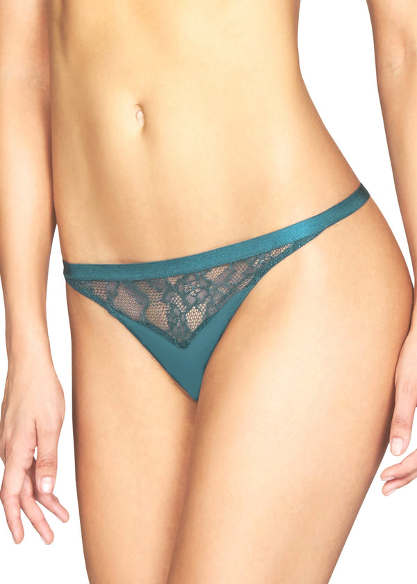 Poison Iris Thong Brief-Bottoms-Heidi Klum Intimates-AvecAmourLingerie