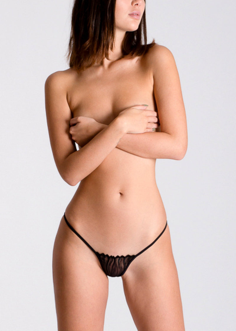 Lucky Cheeks Black Fire Sexy G-String - Avec Amour Lingerie Boutique
