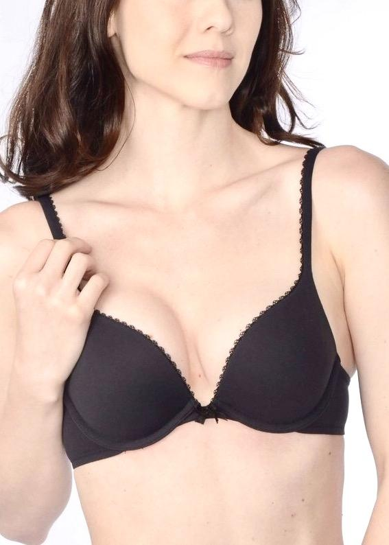 Memory Push Up Bra (Black)-Bras-Fine Lines-AvecAmourLingerie