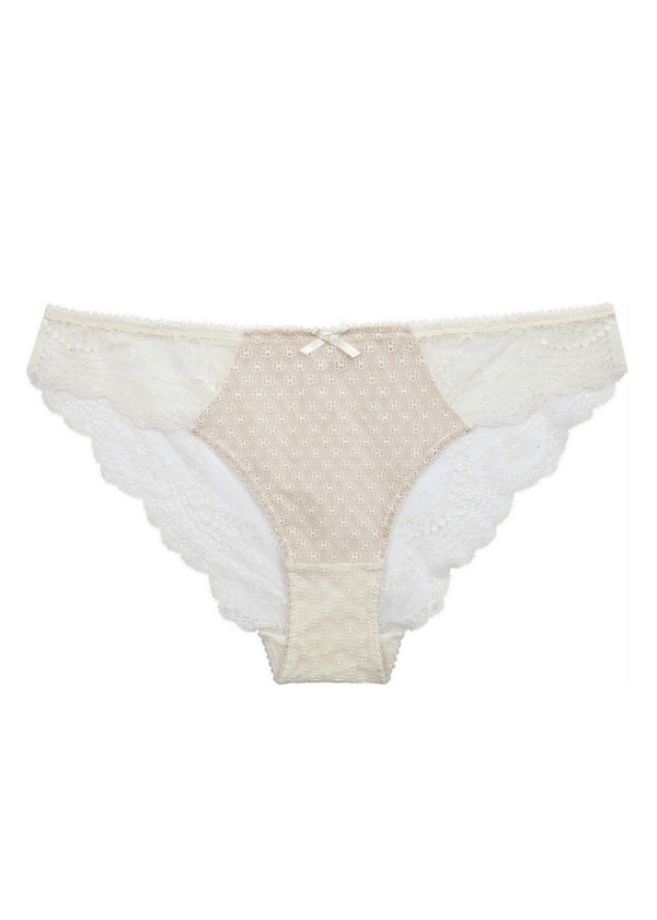Bryony June (ECRU) Mini Brief-Bottoms-Pleasure State-AvecAmourLingerie