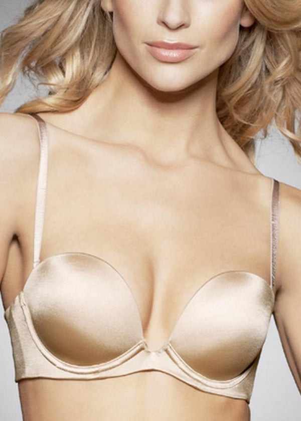 Refined 6 Way Low Cut Strapless Bra (Nude)-Bras-Fine Lines-AvecAmourLingerie