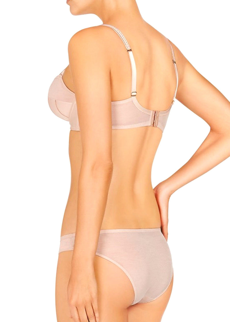 Cherie Sneezing Bikini Brief (Apricot)-Bottoms-Stella McCartney Lingerie-AvecAmourLingerie