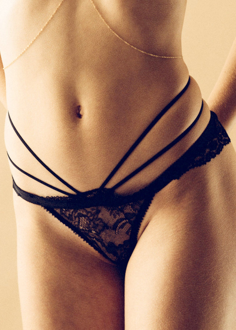 Divine (Black) Ouvert Brief-Bottoms-Tisja Damen-AvecAmourLingerie