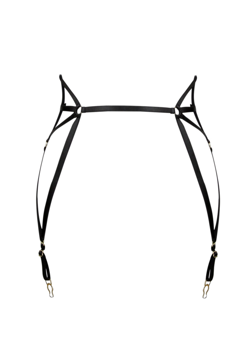 Onyx Spider Suspender-Bottoms-ELF Zhou-AvecAmourLingerie