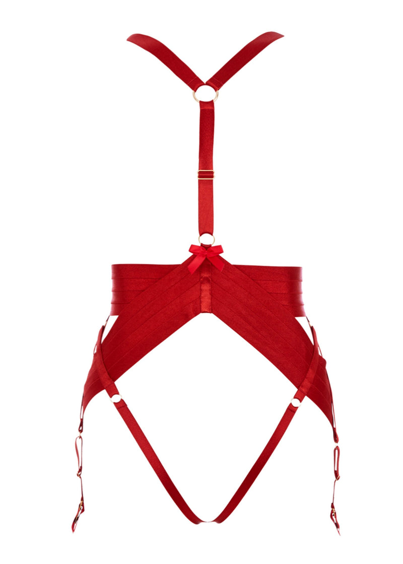 Asobi (Burnt Red) Harness-Bodywear-Bordelle-AvecAmourLingerie