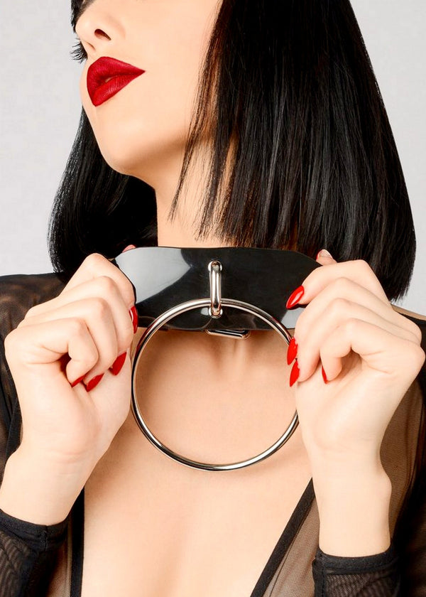 PVC O-Ring Choker (Red)-Accessories-ELF Zhou-AvecAmourLingerie