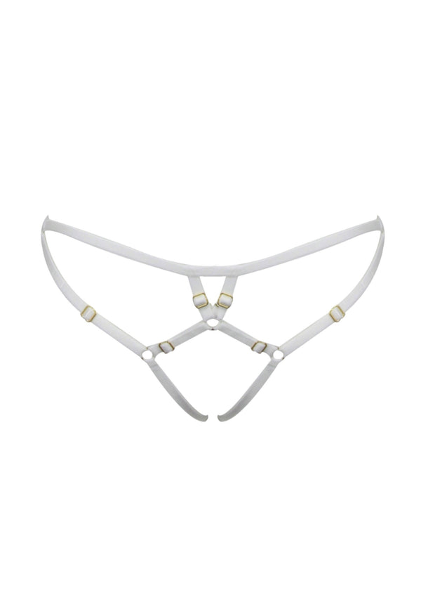 Ouvert Frame Brief (White)-Bottoms-ELF Zhou-AvecAmourLingerie
