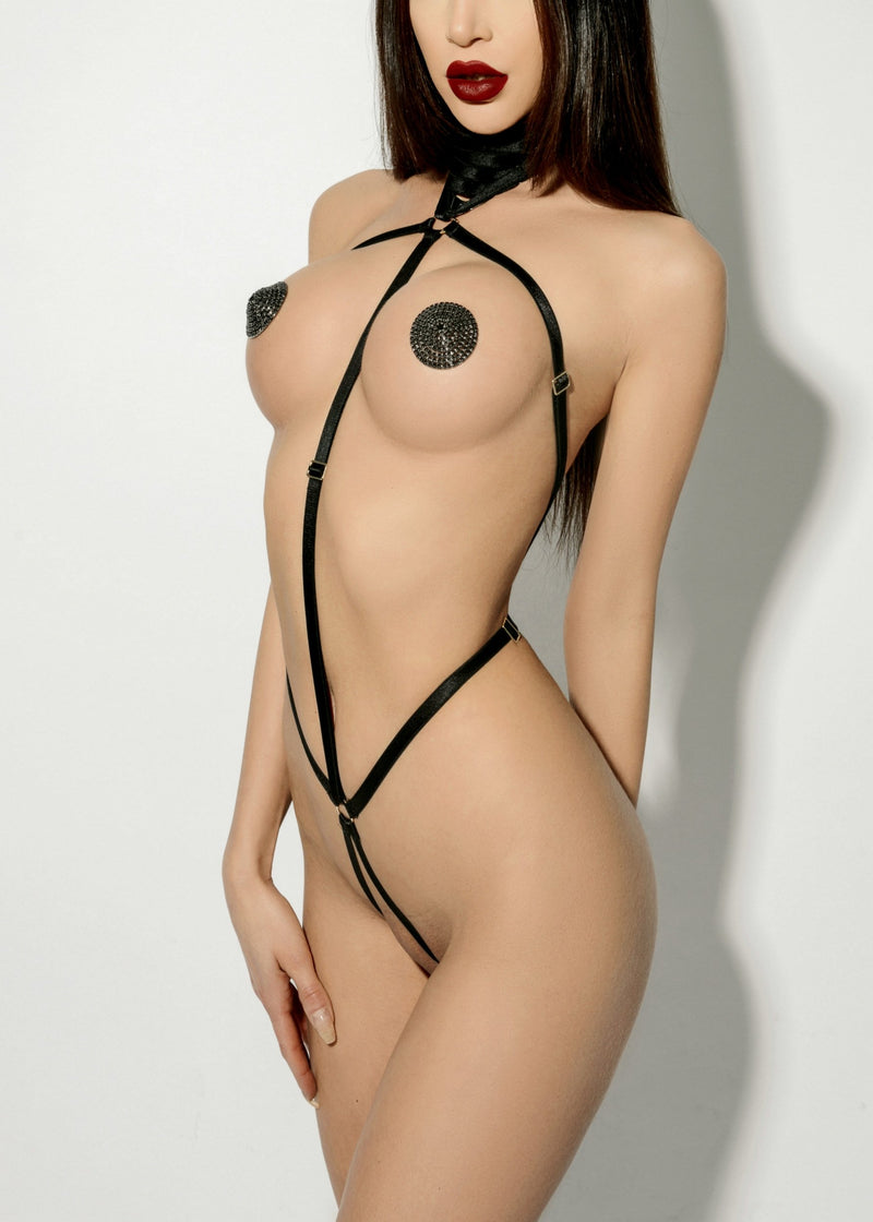 Body Harness (Red)-Bodywear-ELF Zhou-AvecAmourLingerie