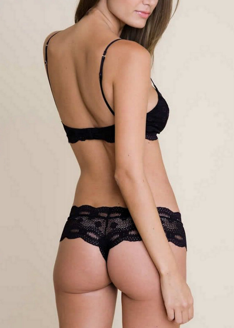 Eberjey India Low Rise Boythong (Black) - Avec Amour Lingerie Boutique