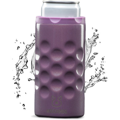 The Skinny Can Cooler [Purple Glitter]