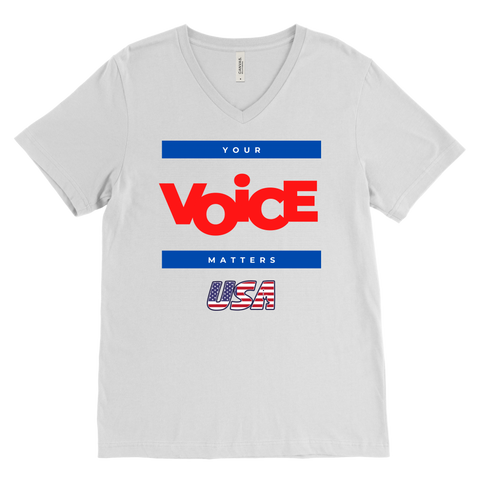 Men's V-Neck - Your Voice Matters