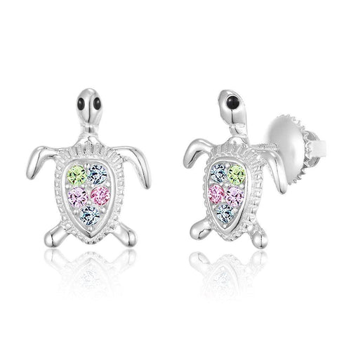 Chanteur - Turtle Screwback Earring With Swarovski Elements