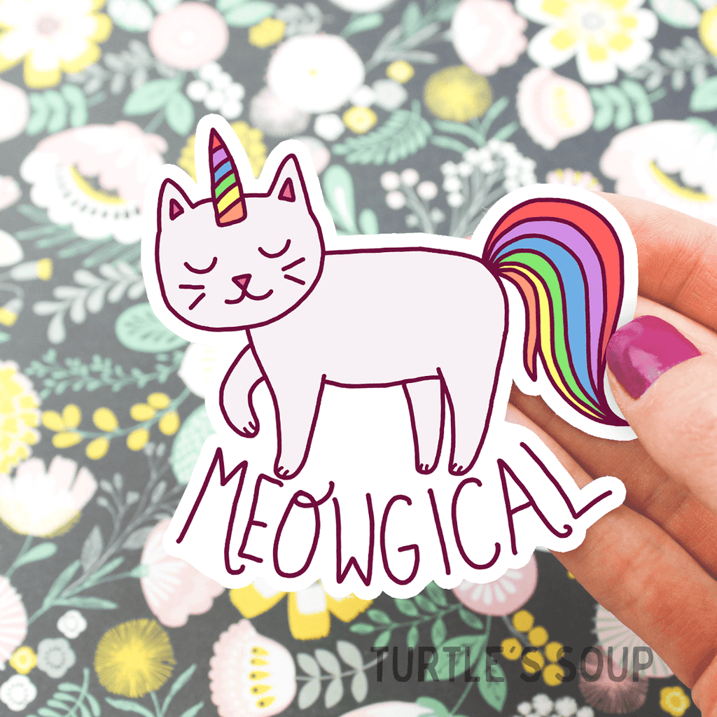 turtle soup meowgical sticker caticorn cat unicorn