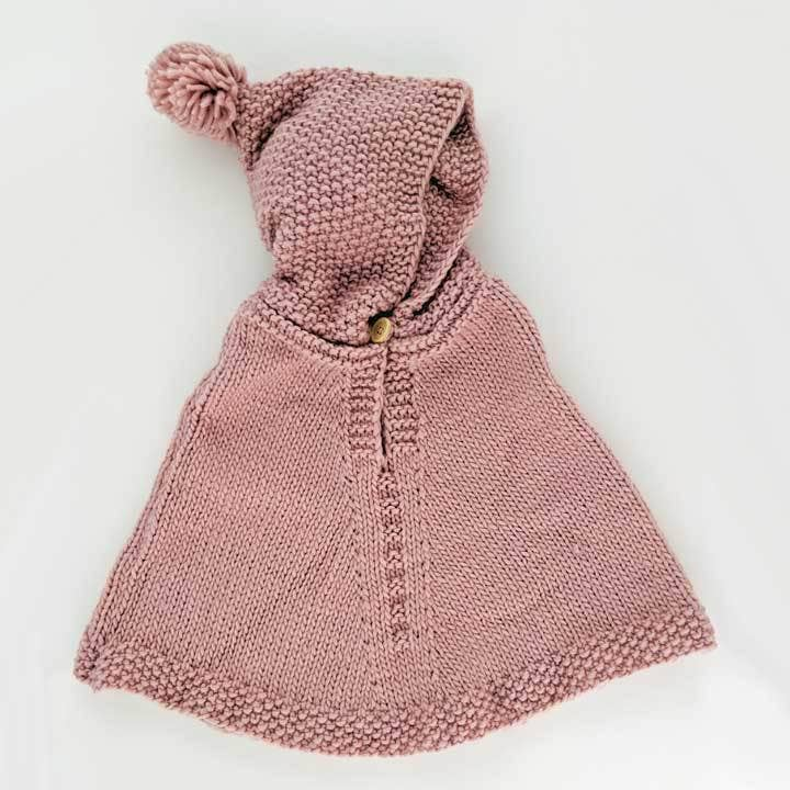 Huggalugs Infant Hooded Poncho: Rosy Pink- 12-24m