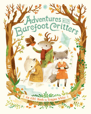 Adventure with Barefoot Critters Early Learning Children's Book Board Book Animals
