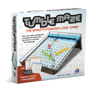Blue Orange tumble maze. Puzzle game. 1 player for ages 8 and up