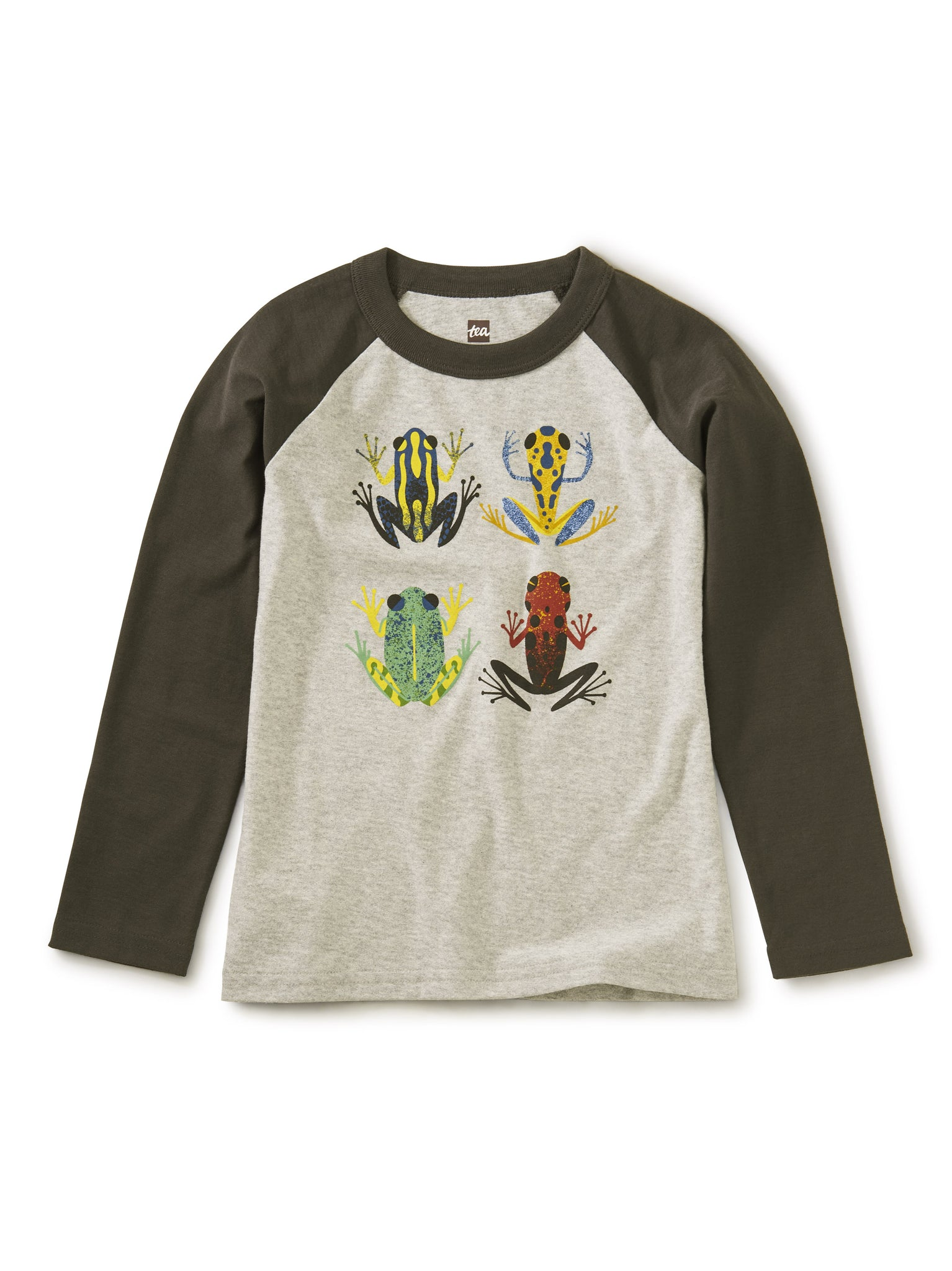Tea Cloud Forest Frogs Raglan Graphic Tee