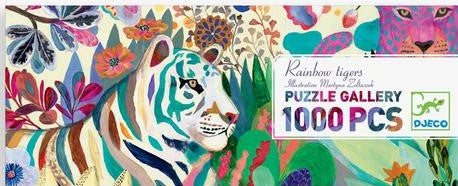 Djeco 1000 pc gallery puzzle- Rainbow Tiger