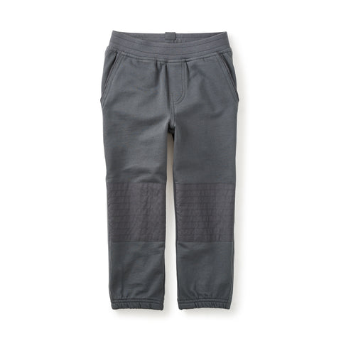 Tea French Terry Moto Pant- Coal