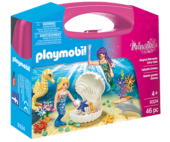 Playmobil mermaids carry case