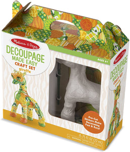 Melissa & Doug decoupage made easy- giraffe